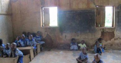 Delapitated school buildings